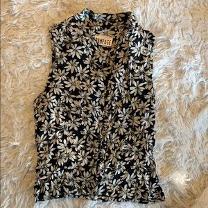 90s Rampage Floral Blouse